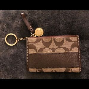 Mini Coach wristlet - New never used